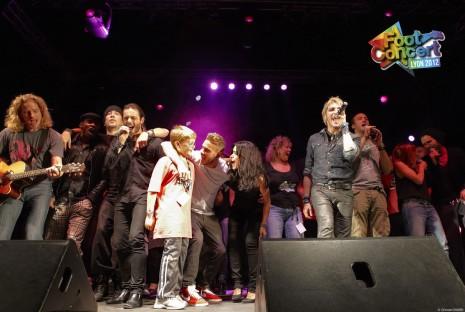 un finale de folie ! foot-concert 2012